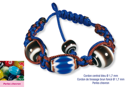 Shamballa avec perles chevron - Bracelets divers – 10doigts.fr