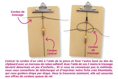 Shamballa avec perles chevron - Bijoux Shamballas – 10doigts.fr