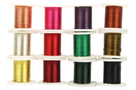 Fil de cuivre coloré Ø 0,4 mm - 12 bobines - Fils aluminium – 10doigts.fr