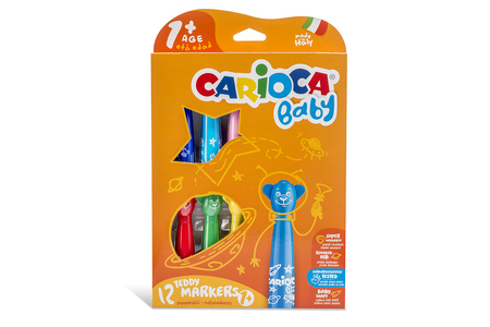 Feutres Carioca Baby - Set de 12 - Feutres pointes larges – 10doigts.fr