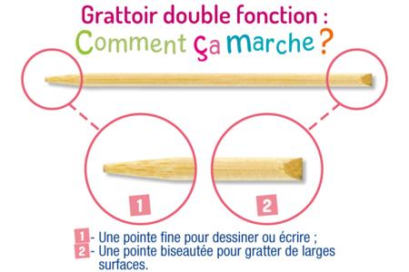 """Cartes à gratter """"Champêtre"""" + grattoirs - 3 cartes - Cartes à gratter – 10doigts.fr"""