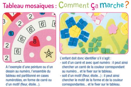 Tableaux mosaïques par numéros - Lot de 4 - Kits activités clés en main – 10doigts.fr