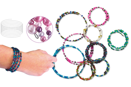Fil mémoire de forme - Ø 6 ou 13 cm - Bracelets – 10doigts.fr