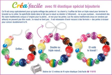 Bracelet en perles bâtonnets nacrées - Bijoux – 10doigts.fr