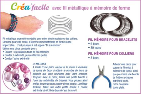Bracelets en grosses perles à facettes - Tutos Fête des Mères – 10doigts.fr