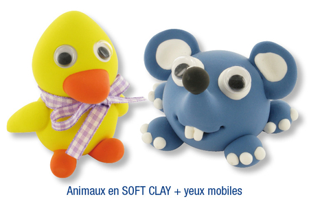 Animaux en pâte à modeler SOFT CLAY - Modelage – 10doigts.fr