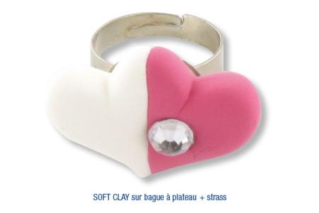Bague décorée avec de la pâte à modeler SOFT CLAY - Activités enfantines – 10doigts.fr