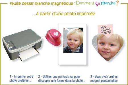 Papier dessin magnétique imprimable - Lot de 2 feuilles - Aimants – 10doigts.fr