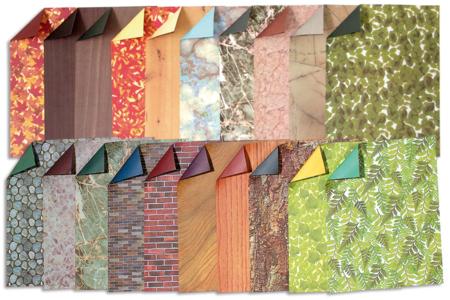 """Papier imprimé recto/verso """" Nature"""" - 40 feuilles - Papiers motifs fleurs et nature – 10doigts.fr"""