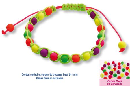 Shamballas... avec des perles fluos en acrylique  - Bijoux Shamballas - 10doigts.fr