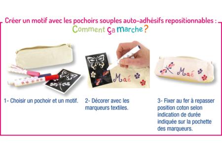 Trousse en coton naturel avec fermeture zippée - Fête des Mères – 10doigts.fr