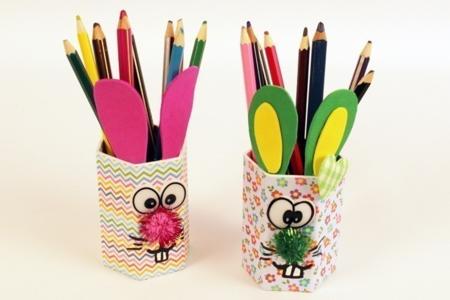 Pot à crayons Lapin - Pâques – 10doigts.fr