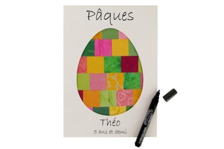 Collage oeuf de Pâques - Pâques – 10doigts.fr