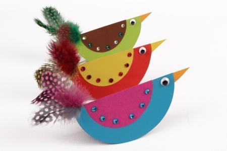 Oiseaux à bascule - Activités enfantines – 10doigts.fr