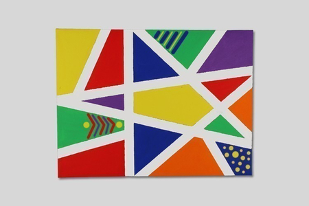 Mon premier tableau d'art abstrait - Activités enfantines – 10doigts.fr