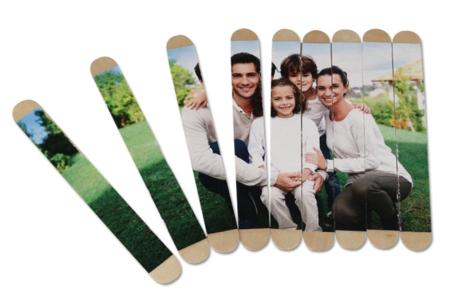 Puzzle photo avec bâtonnets en bois - Activités enfantines – 10doigts.fr