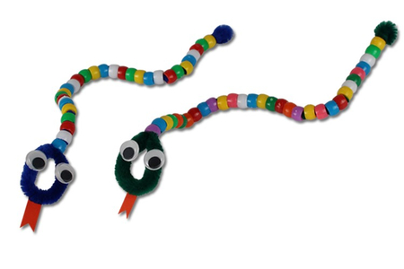 Serpents en perles - Activités enfantines – 10doigts.fr