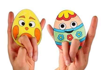 Marionnettes à doigts - Pâques - Tutos Pâques – 10doigts.fr