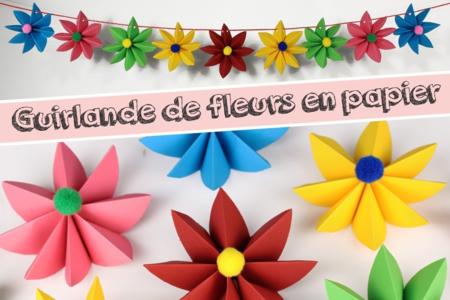 Guirlande de fleurs en papier - Activités enfantines – 10doigts.fr