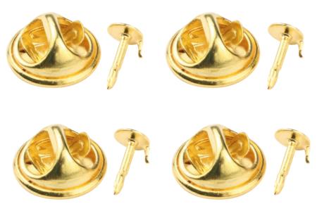 Attaches pin's dorés - Lot de 12 - Broches – 10doigts.fr