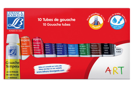 Gouaches Lefranc & Bourgeois - 10 tubes de 10 ml - Peinture gouache liquide – 10doigts.fr