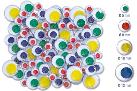 Yeux mobiles à pupille colorée - Yeux mobiles – 10doigts.fr