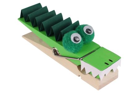 Pince mémo crocodile - Activités enfantines – 10doigts.fr