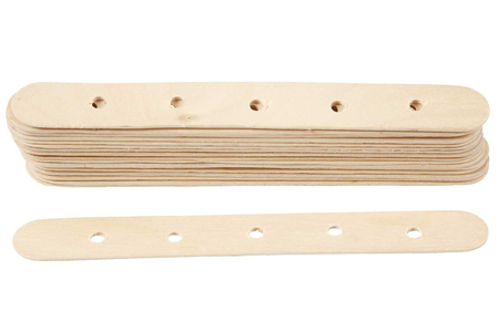 Bâtons en bois avec trous - Bâtonnets, tiges, languettes – 10doigts.fr