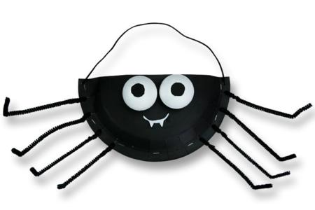 Panier à bonbons Araignée - Tutos Halloween – 10doigts.fr