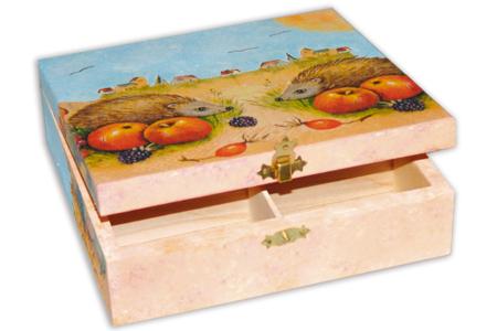 Boîte à thé en bois à 6 casiers - Boîtes et coffrets – 10doigts.fr