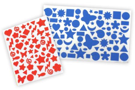 Stickers en caoutchouc souple - 1750 stickers - Stickers Fantaisies – 10doigts.fr