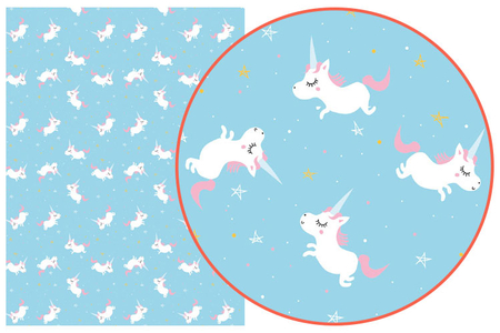 Papier Décopatch Licornes - 3 feuilles  N°727 - Décorations Licorne et Arc-en-ciel – 10doigts.fr