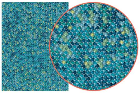 Décopatch N° 729 - Set de 3 feuilles écailles poisson - Papiers Décopatch – 10doigts.fr