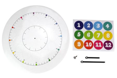"""Horloge pédagogique """"J'apprends à lire l'heure"""" - Kits activités d'apprentissage – 10doigts.fr"""