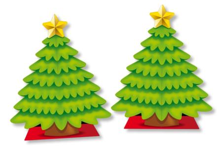 Sapin géant 3D + 98 gommettes - Noël – 10doigts.fr