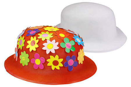 Chapeaux melon à décorer - Lot de 6 - Mardi gras, carnaval – 10doigts.fr
