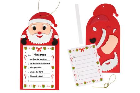 """""""Ma liste pour le Père Noël"""" - Lot de 6 - Décoration de Noël – 10doigts.fr"""
