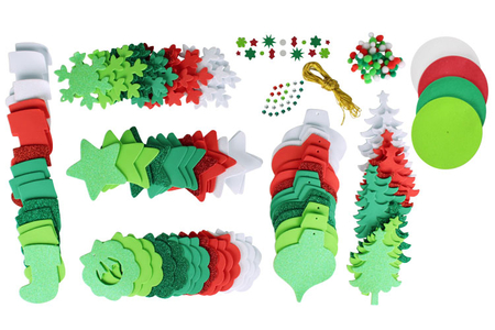 Méga pack formes de Noël à décorer et à suspendre - Suspension Fantaisie – 10doigts.fr