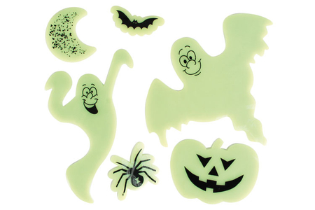 Stickers en gel vitrostatiques et phosphorescents - Halloween – 10doigts.fr