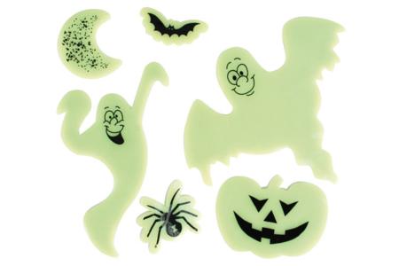 Stickers en gel vitrostatiques et phosphorescents - Halloween – 10doigts.fr