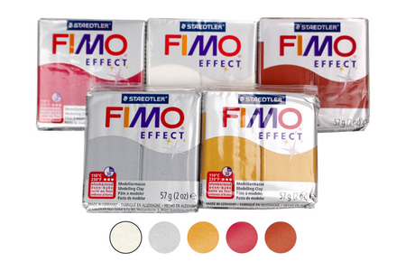 FIMO : Kit de 5 couleurs métallisées  - Les kits Fimo – 10doigts.fr