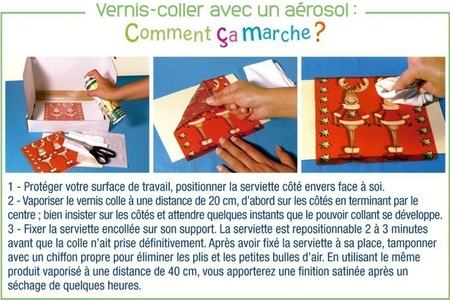 Vernis-colle en aérosol - 250 ml - Colles en aérosol – 10doigts.fr