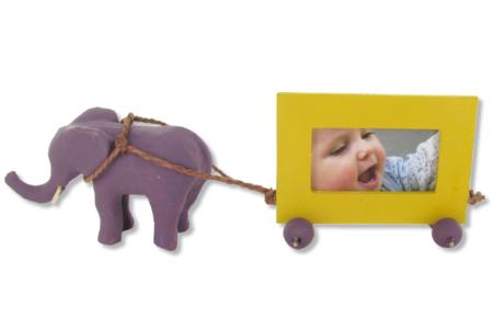 Eléphant en papier mâché 10 cm - Animaux en papier mâché – 10doigts.fr