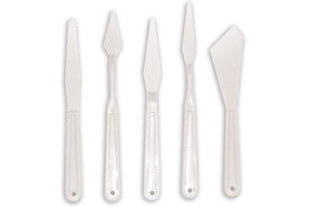 Spatules en plastique - Set de 5 outils - Joint et outils pour mosaïques – 10doigts.fr