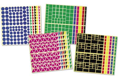 Maxi lot de 10890 gommettes géométriques - Gommettes géométriques – 10doigts.fr