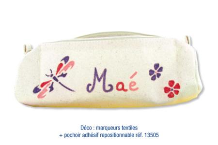 Trousse en coton naturel avec fermeture zippée - Coton, lin – 10doigts.fr