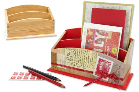 Range-courrier à 2 compartiments en bois - Range-courriers – 10doigts.fr