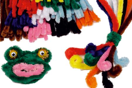 Méga Chenilles - couleurs vives - Chenilles, cure-pipe – 10doigts.fr