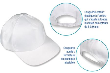 Casquette en coton blanc - Coton, lin – 10doigts.fr