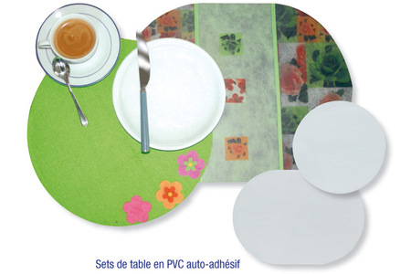 Feuilles en PVC auto-adhésives translucide (Polyphane) - Film et feuille plastique – 10doigts.fr